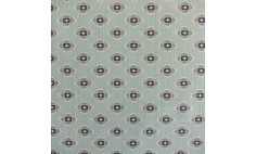 Garden Green Grey Oil Cloth