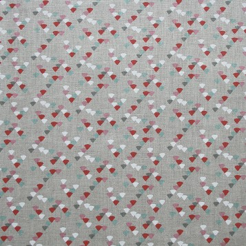 Triangle Toile - Vieux Rose