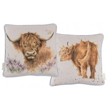 Highland Heathers Cow Cushion