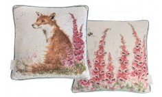 Foxglove Fox Cushion