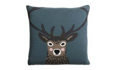 Highland Stag Knitted Cushion
