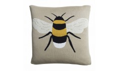 Bees Statement Knitted Cushion